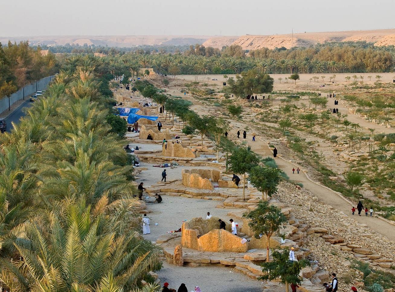 paysage de wadi sec