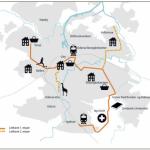 plan de la ligne de tramway Odense Danemark